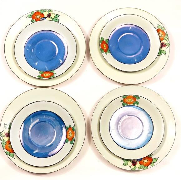 Vintage Other - 8 vintage Japanese hand-painted porcelain plates